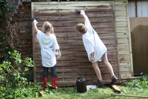 Mai 2010 quoi de neuf au potager for Comment cacher un mur